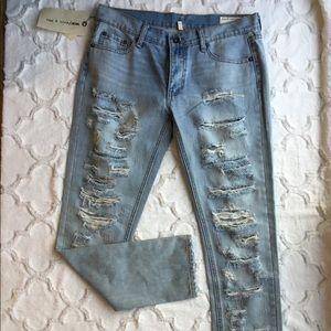 Rag & Bone Distressed Dre Boyfriend Skinny Jeans